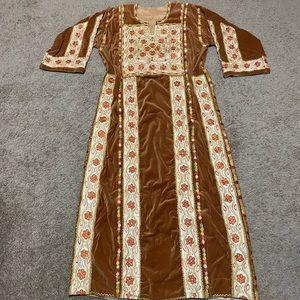 Dresses & Skirts - Palestinian dress thobe henna maxi machine velvet